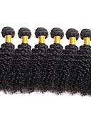 baratos Macacões & Macaquinhos-6 pacotes Cabelo Brasileiro Encaracolado Cabelo Virgem Cabelo Humano Ondulado 8-26 polegada Natureza negra Tramas de cabelo humano Extensões de cabelo humano
