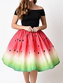 cheap Evening Dresses-Women's Cotton A Line Skirts - Polka Dot