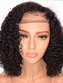cheap Mother of the Bride Dresses-Human Hair Glueless Lace Front / Lace Front Wig Brazilian Hair Curly Wig Bob Haircut / With Baby Hair 130% Natural Hairline / African American Wig / 100% Virgin Short Human Hair Lace Wig