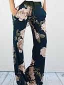 tanie Damskie spodnie-Damskie Kwiaty Spodnie szerokie nogawki Spodnie Kwiaty