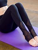 preiswerte Höschen-Damen Steigbügel Yoga-Hose - Weiß, Schwarz Sport Sexy Gitter Strumpfhosen / Lange Radhose / Leggins Laufen, Fitness, Fitnessstudio Sportkleidung Rasche Trocknung, tragbar, Atmungsaktiv Hochelastisch