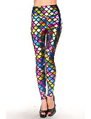 abordables Camisetas y Tops de Hombre-Mujer Poliuretano Legging - Varios Colores, Metal / Estampados Animales / Estampado / Lentejuela