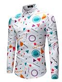 זול סוודרים וקרדיגנים לגברים-גיאומטרי פעיל כותנה / פוליאסטר / ספנדקס, חולצה - בגדי ריקוד גברים / שרוול ארוך