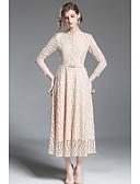 tanie Damska spódnica-Damskie Szczupła Linia A Pochwa Sukienka - Solid Color, Koronka Półgolf