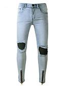 billige Herreundertøj og -sokker-Herre Punk & gotisk Jeans Bukser Ensfarvet