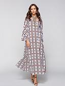 זול שמלות נשים-צווארון V מידי מפוצל / דפוס, פרחוני - שמלה משוחרר שרוול התלקחות בוהו חוף בגדי ריקוד נשים