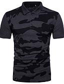 abordables Camisetas y Tops de Hombre-Hombre Algodón Polo, Cuello Camisero Un Color