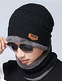 זול כובעים אופנתיים-כובע עם שוליים רחבים - קולור בלוק מסיבה / פעיל בגדי ריקוד גברים / כותנה / סתיו / חורף