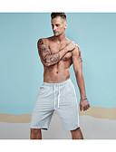 זול מכנסיים ושורטים לגברים-בגדי ריקוד גברים פעיל כותנה צ'ינו / שורטים מכנסיים - אחיד / פסים / קולור בלוק אפור / ספורט