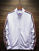 זול חולצות לגברים-אחיד עומד ג'קט - בגדי ריקוד גברים כותנה / שרוול ארוך