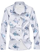 cheap Men's Exotic Underwear-Men's Cotton Shirt - Floral
