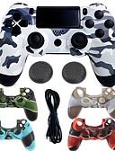 זול חולצה-משחק מגן במקרה מגן / בקר משחק עבור PS4 ,  ידית משחק משחק מגן במקרה מגן / בקר משחק סיליקון / ABS 1 pcs יחידה