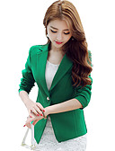 cheap Women's Dresses-Women's Work Blazer - Solid Colored Solid Color