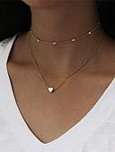 preiswerte Damen Kapuzenpullover & Sweatshirts-Damen Halsketten / Layered Ketten - Herz Modisch Gold, Silber Modische Halsketten Schmuck 1 Für Party, Neujahr