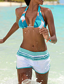 رخيصةأون ملابس السباحة والبيكيني 2017 للنساء-شورتات قصيرة ستايل قلب / مثير, متعدد اللون / طباعة رد الفعل - بيكيني للمرأة