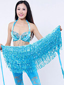 זול טישרטים לגופיות לגברים-ריקוד בטן רגיל בגדי ריקוד נשים הדרכה פוליאסטר חגורה צעיף מותניים לריקודי בטן