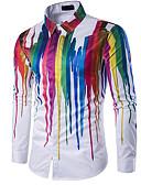 זול טישרטים לגופיות לגברים-גיאומטרי צווארון קלאסי רזה חולצה - בגדי ריקוד גברים דפוס