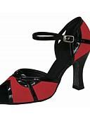 رخيصةأون كنزات نسائية-للمرأة أحذية رقص متدفق / جلد صندل / كعب كعب مخصص مخصص أحذية الرقص حمر - أسود / متخصص