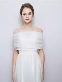 זול הינומות חתונה-ללא שרוולים טול חתונה / מסיבה\אירוע ערב כיסויי גוף לנשים עם עניבת פרפר גלימות