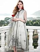 זול שמלות נשים-עומד בסיסי דפוס, פרחוני - שמלה משוחרר סגנון סיני בגדי ריקוד נשים