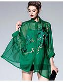 זול שמלות נשים-צווארון עגול קצר מעל הברך תחרה / רקום, פרחוני - שמלה נדן משי וינטאג' / סגנון סיני חגים בגדי ריקוד נשים
