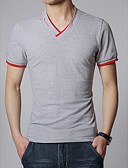 cheap Men's Tees & Tank Tops-Men's Active Cotton Slim T-shirt - Solid Colored V Neck