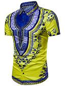 cheap Men's Pants & Shorts-Men's Club Boho / Exaggerated Shirt - Tribal Print / Short Sleeve