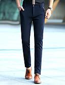 cheap Men's Pants & Shorts-Men's Cotton Chinos Pants - Solid Colored Black