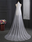 cheap Wedding Veils-One-tier Classic Wedding Veil Chapel Veils 53 Fringe Tulle