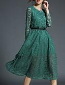 זול חולצות לנשים-מידי צבע אחיד - שמלה נדן בסיסי בגדי ריקוד נשים