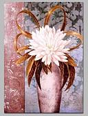 tanie Męskie koszule-Hang-Malowane obraz olejny Ręcznie malowane - Martwa natura Klasyczny Brezentowy / Rozciągnięte płótno