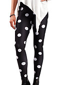 cheap Leggings-Women's Basic Legging - Polka Dot Mid Waist