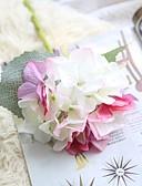 זול טישרטים לגופיות לגברים-פרחים מלאכותיים 1 ענף כפרי / חתונה הורטנזיות פרחים לשולחן