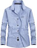 cheap Men's Underwear & Socks-Men's Street chic Cotton Shirt - Solid Colored Print / Long Sleeve
