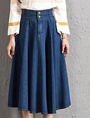 abordables Faldas para Mujer-Mujer Tallas Grandes Noche Lápices Faldas Un Color Alta cintura