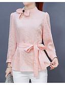 זול חולצות לגברים-פסים בסיסי / פאנק & גותיות חולצה - בגדי ריקוד נשים שרוול פרפר