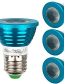 tanie Męskie spodnie i szorty-YouOKLight 4 szt. 3 W - E26 / E27 Żarówki punktowe LED 1 Koraliki LED LED wysokiej mocy Przygaszanie / Zdalnie sterowana / Dekoracyjna RGB 85-265 V