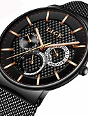 cheap Sport Watches-Men's Bracelet Watch Japanese Calendar / date / day / Chronograph / Water Resistant / Water Proof Stainless Steel Band Luxury / Casual Black / Silver / Gold / Three Time Zones / Stopwatch / Two Years
