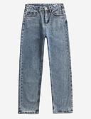 tanie Damskie spodnie-Damskie Prosty Jeansy Spodnie Solidne kolory