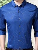 ieftine Tricou Bărbați-Bărbați Mărime Plus Size Cămașă Muncă De Bază - Mată / Manșon Lung