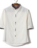 זול טישרטים לגופיות לגברים-אחיד רזה חולצה - בגדי ריקוד גברים