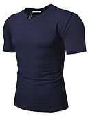 tanie Męskie koszule-T-shirt Męskie Podstawowy Sport Okrągły dekolt Szczupła - Solidne kolory / Krótki rękaw