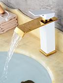 abordables Robes pour Filles-robinet central en céramique contemporain monocommande, un trou, peinture en bronze frotté à l'huile noire, robinets de baignoire pour robinet d'évier de salle de bains