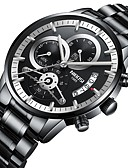 cheap Steel Band Watches-Men's Military Watch Japanese Stainless Steel Black / Silver 30 m Calendar / date / day Chronograph Creative Analog Luxury Classic - Black Blue Black / Silver Two Years Battery Life / Large Dial