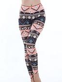 זול מכנסיים לנשים-צועד - גיאומטרי, דפוס הדפס מותניים גבוהים בגדי ריקוד נשים