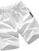 tanie Męskie spodnie i szorty-Męskie Sportowy Puszysta Bawełna Szczupła Typu Chino / Szorty Spodnie Solidne kolory