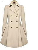 cheap Women's Coats & Trench Coats-Women's Trench Coat - Solid Colored Shirt Collar