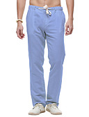tanie Męskie spodnie i szorty-Męskie Bawełna Typu Chino Spodnie - Solidne kolory Biały