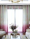 cheap Cocktail Dresses-Curtains Drapes Bedroom Plants Multi Color Graphic Prints Linen&Cotton Blend Printed