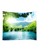رخيصةأون فساتين نسائية-الحديقةGarden Theme مناظر الطبيعيةمربع جدار ديكور 100 ٪ بوليستر معاصر الحديث جدار الفن, سجاد الحائط زخرفة